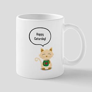 Happy Caturday Mug Mugs