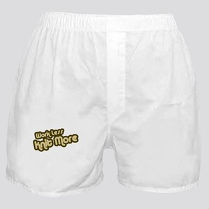 Work Less Knit More Boxer Shorts