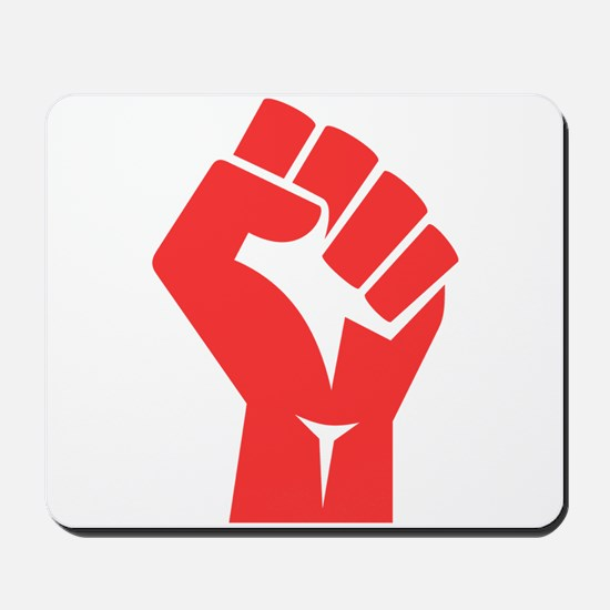 Red Power Fist Mousepad