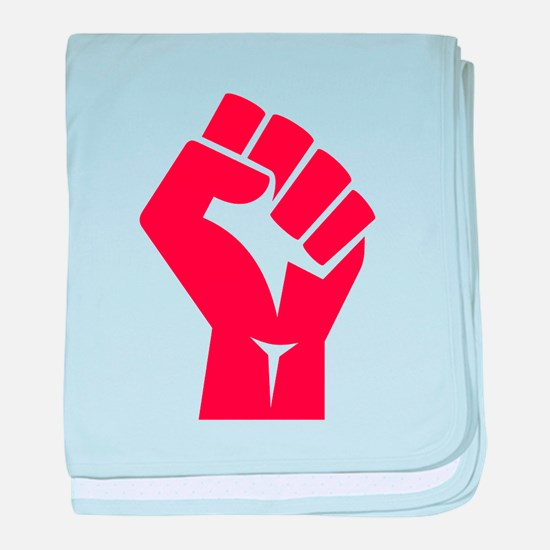Red Power Fist baby blanket