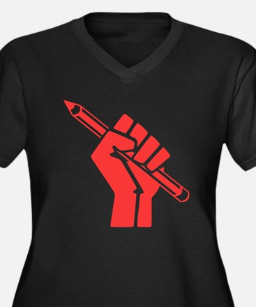 Red Writer Power Plus Size T-Shirt