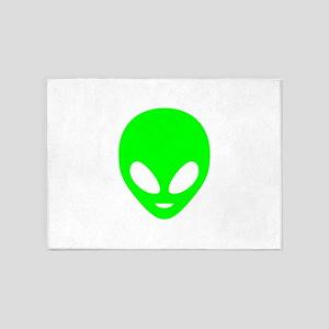 Neon Green Alien 5'x7'Area Rug