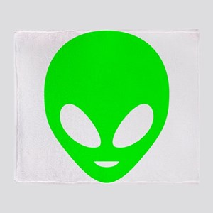 Neon Green Alien Throw Blanket