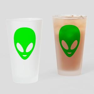 Neon Green Alien Drinking Glass