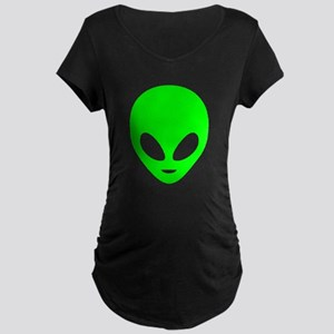 Neon Green Alien Maternity T-Shirt