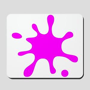 Pink Splatter Mousepad