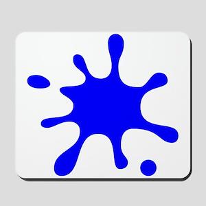 Blue Splatter Mousepad