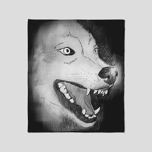 Wolf Sketch 2 Throw Blanket