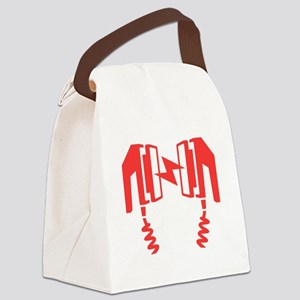 Red Defibrillator Canvas Lunch Bag
