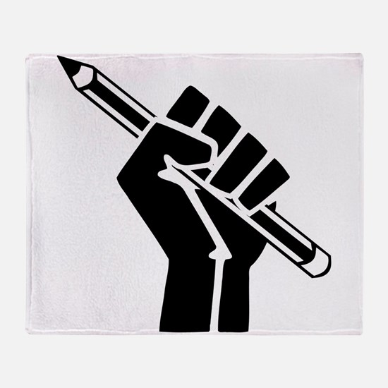 Writer Power Throw Blanket