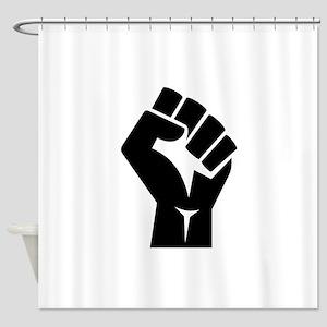 Power Fist Shower Curtain