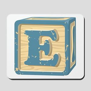 Block Letter E Mousepad