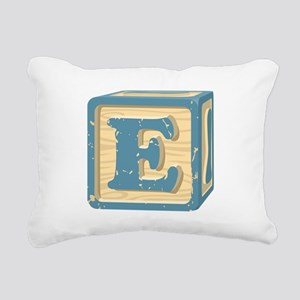 Block Letter E Rectangular Canvas Pillow