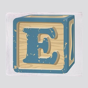 Block Letter E Throw Blanket