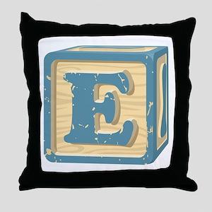 Block Letter E Throw Pillow