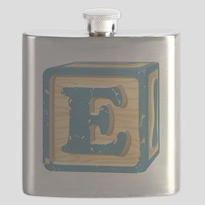 Block Letter E Flask