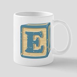 Block Letter E Mugs