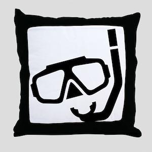 Snorkle Gear Throw Pillow