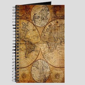 Old world map notebooks cafepress voyage compass vintage world map journal gumiabroncs Choice Image