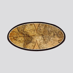 voyage compass vintage world map Patches
