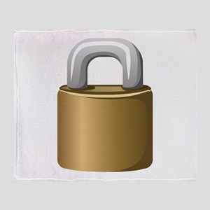 Padlock Throw Blanket