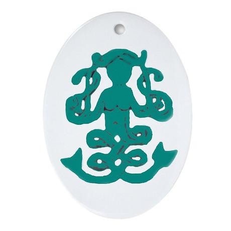 Celtic Mermaid Oval Ornament