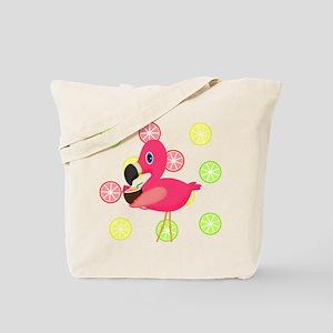 Citrus Pink Flamingo Tote Bag