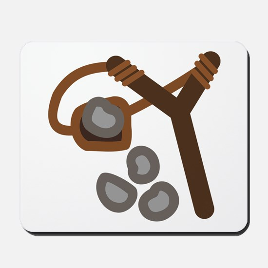 Slingshot With Stones Mousepad