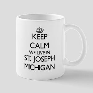 Keep calm we live in St. Joseph Michigan Mugs