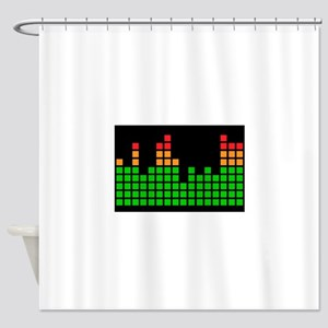 LED Meter Shower Curtain