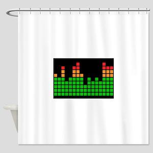 LED Meter Shower Curtain