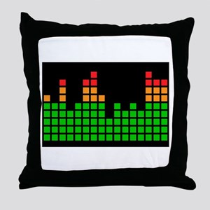 LED Meter Throw Pillow