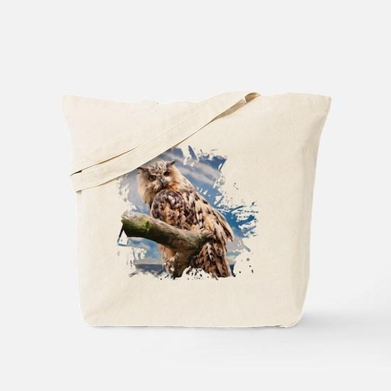 Painting Owl Tote Bag