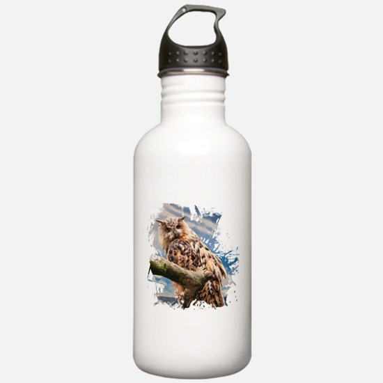 Painting Owl Water Bottle