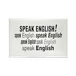 Speak English Speak English Rectangle Magnet (10 p