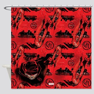 Daredevil Red Shower Curtain