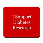 Diabetes Support Red Mousepad