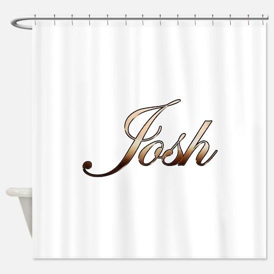 Gold Josh Shower Curtain