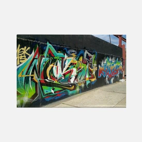 Bushwick Graffiti Rectangle Magnet