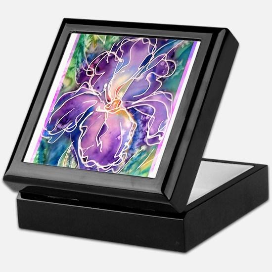 Iris! Beautiful, purple flower, Keepsake Box