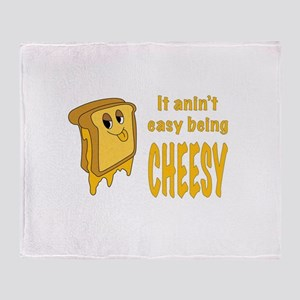 Being Cheesy Throw Blanket