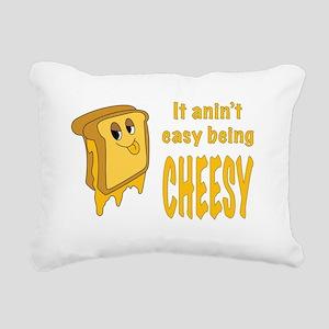 Being Cheesy Rectangular Canvas Pillow