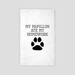 My Papillon Ate My Homework Area Rug