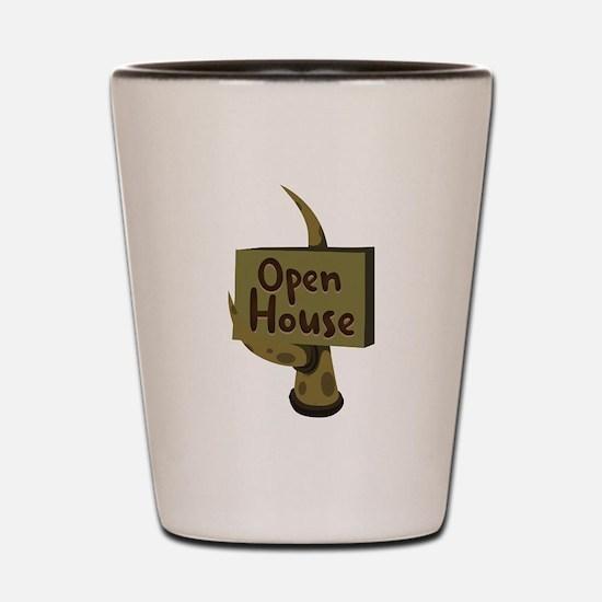 Open House Sign Shot Glass