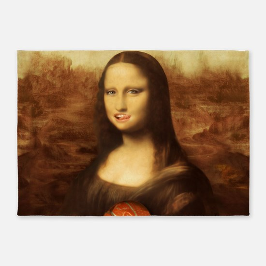 Mona Lisa Loves Valentine's Candy 5'x7'Area Rug