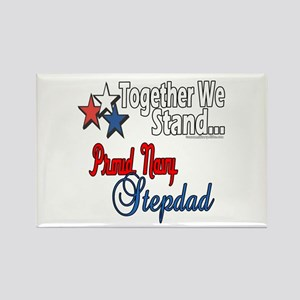 Proud Navy Stepdad Rectangle Magnet