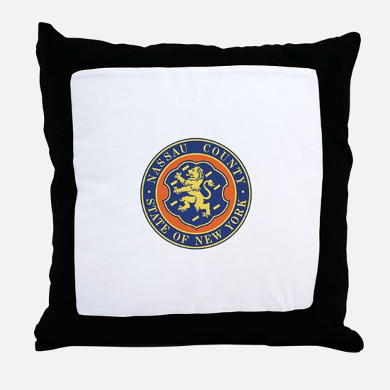 Nassau County Police Throw Pillow