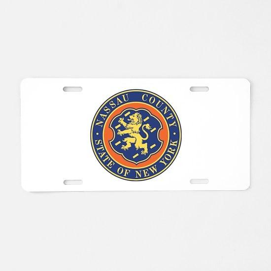 Nassau County Police Aluminum License Plate