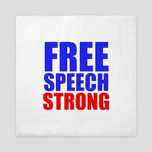 Free Speech Strong Queen Duvet