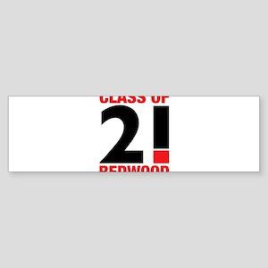 Redwood High School Class of 2021 Bumper Sticker